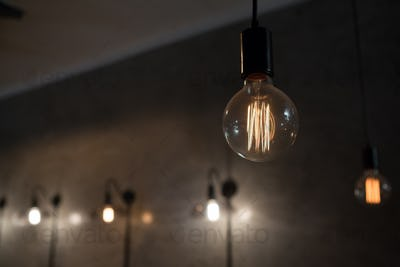 Close-up of illuminated bulb