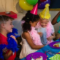 Children at table during party