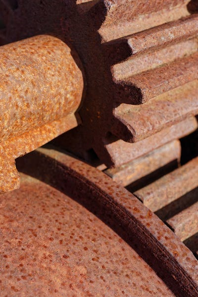 Old rusted cogwheels