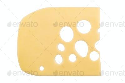 smoked cheese on white background