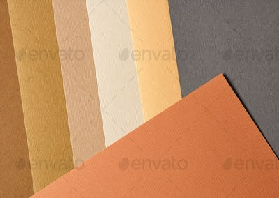 colored paper in autumn colours