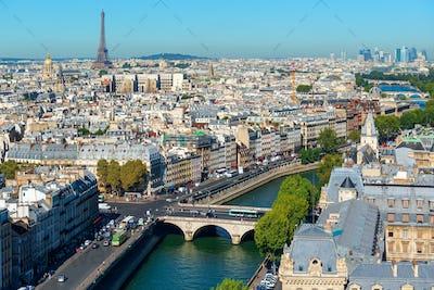 Paris cityscape and landmarks