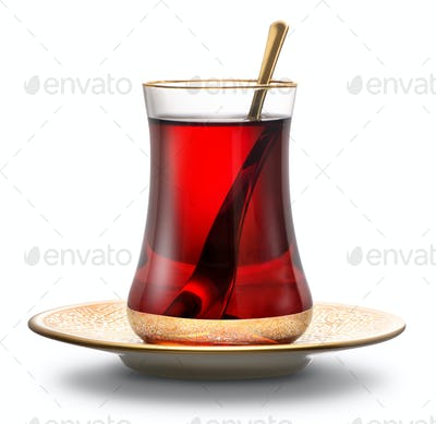 Apple Turkish tea