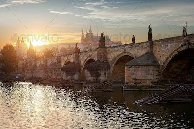 Dusk over Charles Bridge