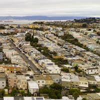Arerial View Row Houses Streets and Neighborhoods of South San Francisco