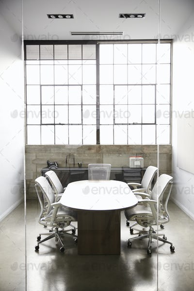 Empty, fully furnished business meeting room