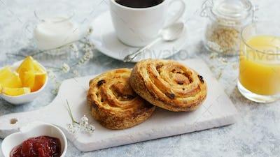 Sweet buns on board for breakfast