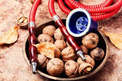 Arabian hookah with walnut