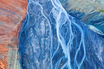 xinjiang anjihai grand canyon closeup