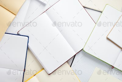 open notebook or book pages