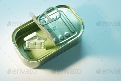 House Symbol in Tin Can