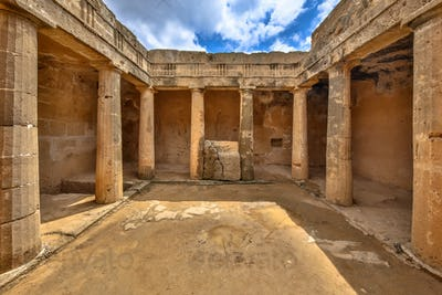 archaeological excavation in Tombs of the Kings Paphos