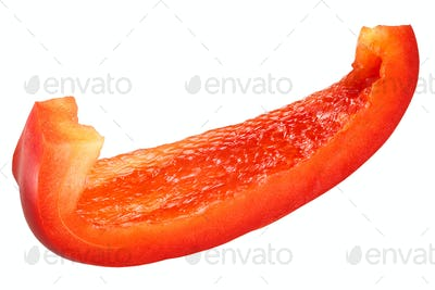 Red bell pepper slice c. annuum, paths