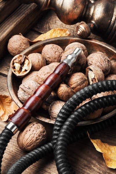Hookah with autumn walnut