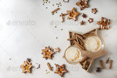 Christmas Eggnog cocktail