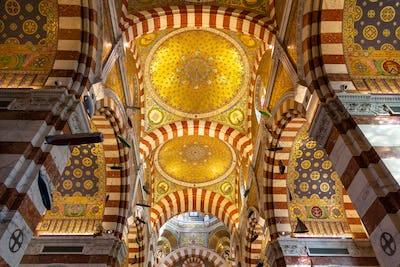 Notre Dame De La Garde cathedral church in Marseille - France