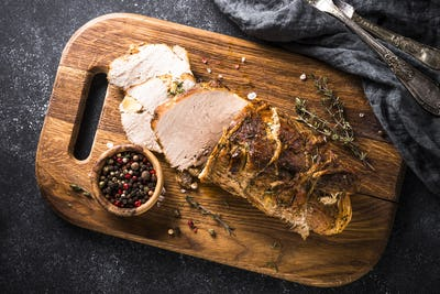 Baked pork meat.  Top vie