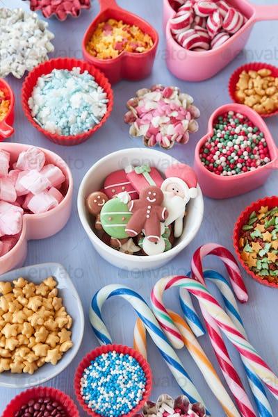 Sugary baking decorations