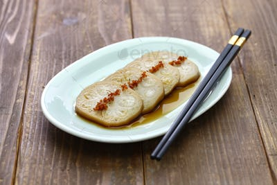 osmanthus flavored, stuffed lotus root with glutinous rice, chinese food