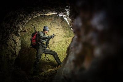 Deep Cave Exploration by Men