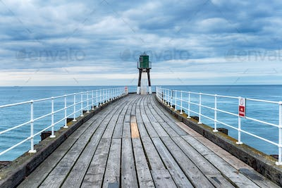 Whitby Pier in Yorkshire