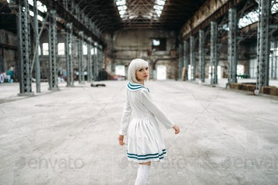 Anime style girl, doll in dress