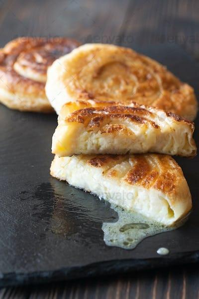 Italian flatbreads stuffed with cheese