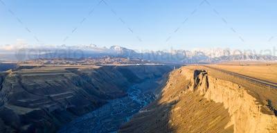 aerial view of anjihai grand canyon