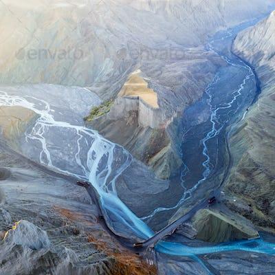 beautiful xinjiang anjihai grand canyon