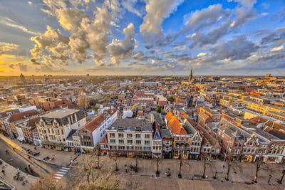 Aerial View over Groningen city