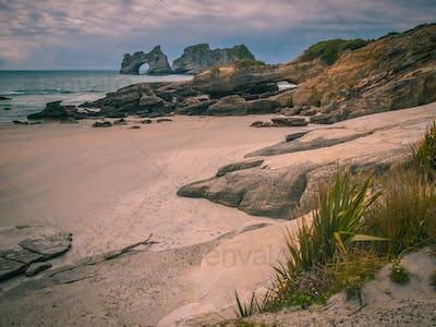 Coastal Rocks on Wharariki Beach