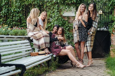 six girls in the park