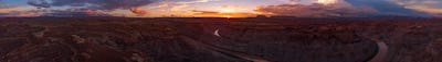 Beautiful Sunset over the Colorado River Utah East and West Loop