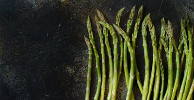 Fresh raw asparagus spears