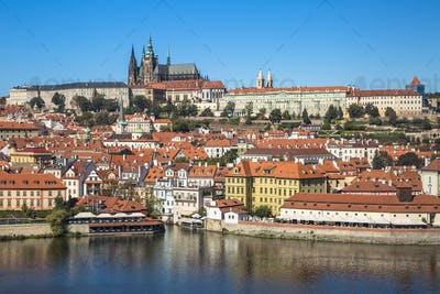 Old town of Prague and Prague castle, Czech Republic