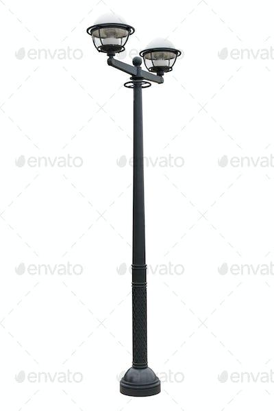 Street lantern isolated on white background