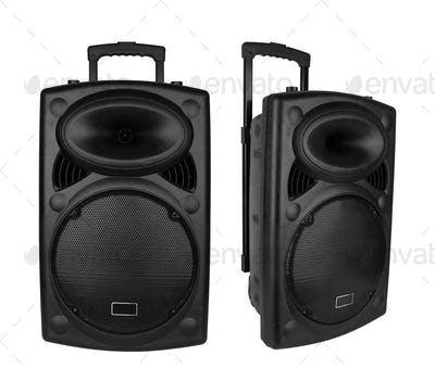 Portable speaker isolated