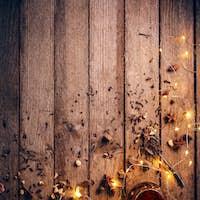 Christmas eve concept with tea