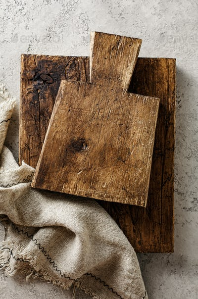 Old wooden cutting boards