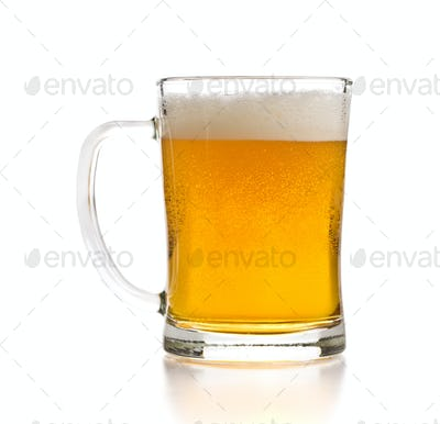 Glass of beer.