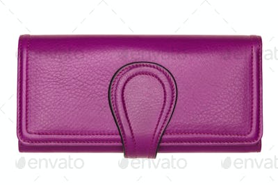 Pink women wallet isolated on white