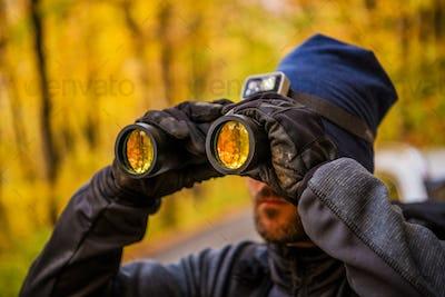 Men Spotting Wildlife