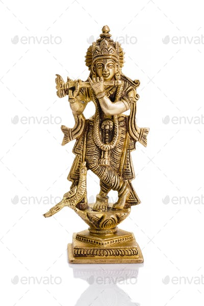 Krishna statue on white