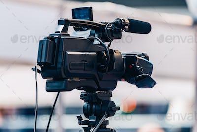 Camera Recording At Media Event