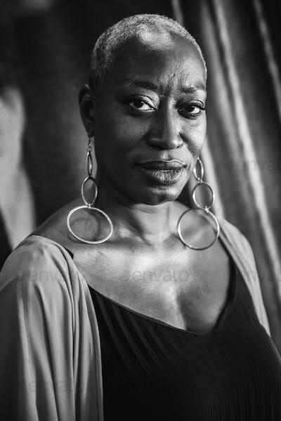 Portrait of a woman singer