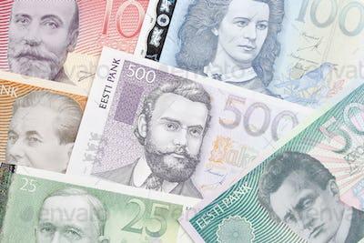 Estonian money a background