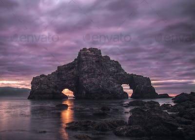 Ominous Sunset at Pena Furada