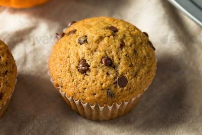 Sweet Homemade Chocolate Pumpkin Muffins