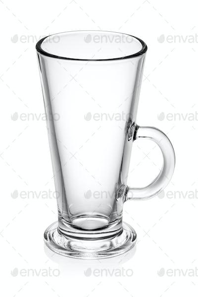 Empty latte glass