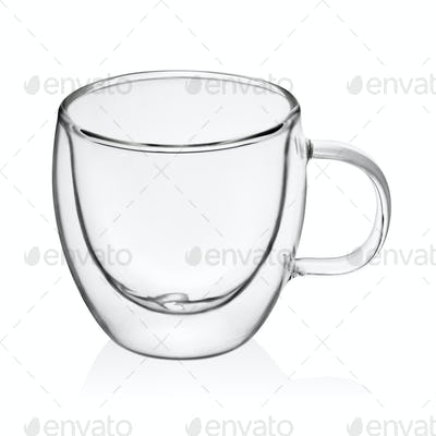 Transparent cup isolated